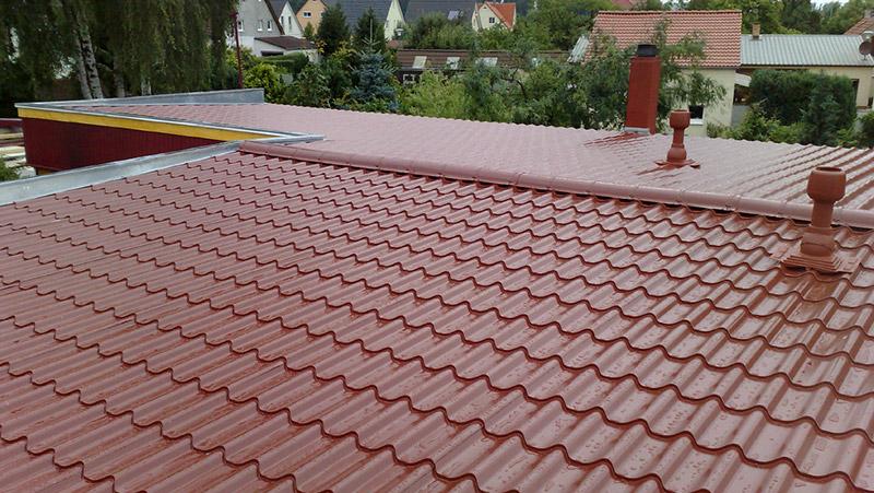 Stahldächer mit Ziegelprofil